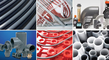 Polybutlene heating cooling piping systems