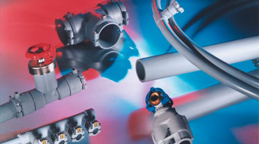 Long lasting high quality valves and fittings made from polybutene by GF Piping Systems.