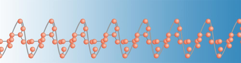 Polybutene PB-1 long string polyolefin molecule blue