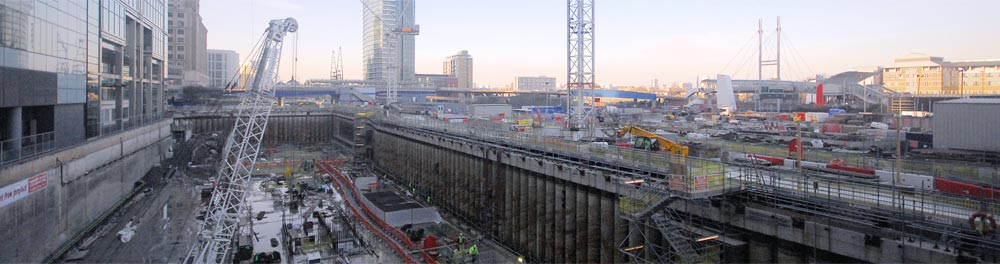 Canary Wharf Wintergarden used polybutene piping for underfloor heating project