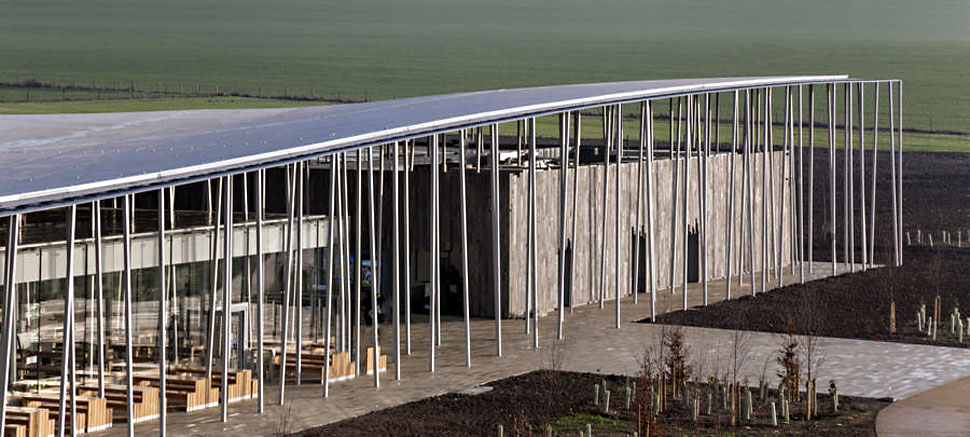 Stonehenge Visitor Centre polybutene sustainable underfloor heating cooling hot cold water piping