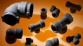 State of the art Polybutene fittings made by PBPSA member companies.